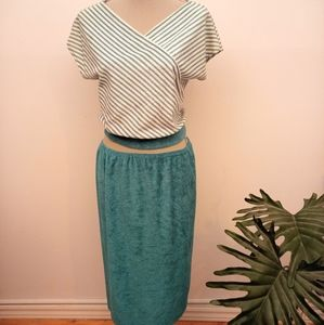 Vintage 80's terry cloth outfit size Medium
